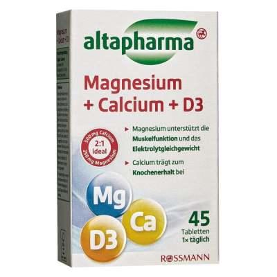 (38.98元/盒)Altapharma 镁+钙+ D3,45粒*10盒