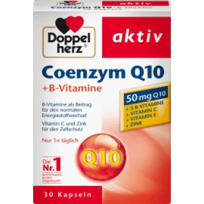 (61.98元/盒)双心 辅酶 Q 10 + B 族维生素胶囊 30 片*6盒