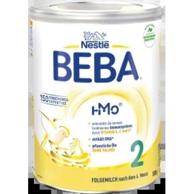 (185.98元/罐)雀巢BEBA贝巴HMO 婴幼儿奶粉 2段,800 克