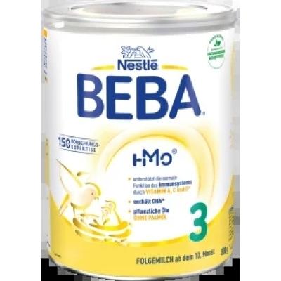 (168.98元/罐)雀巢BEBA贝巴HMO 婴幼儿奶粉 3段800 克*4罐