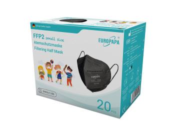 Europapa FFP2 Masken für Kinder-Schwarze