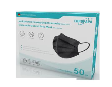 Europapa Typ IIR Masken-Schwarze 2x25ner